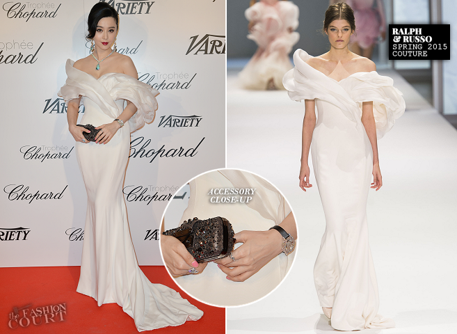 Fan Bingbing in Ralph & Russo Couture | Trophée Chopard - 2015 Cannes Film Festival