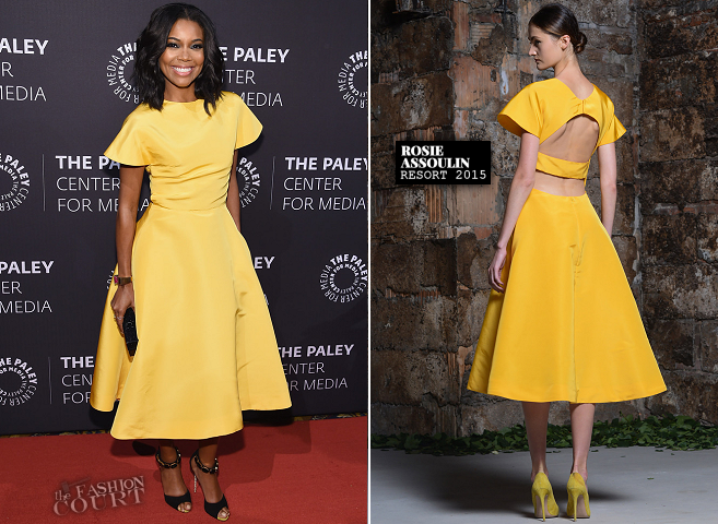 Gabrielle Union in Rosie Assoulin   A Tribute To African-American Achievements In Television