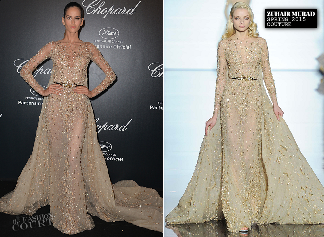 Izabel Goulart in Zuhair Murad Couture | Chopard Gold Party - 2015 Cannes Film Festival