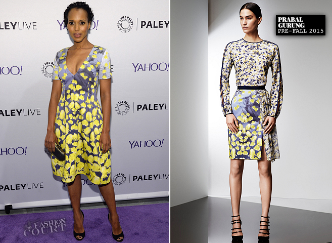 Kerry Washington in Prabal Gurung | The Paley Center: An Evening with the Cast of 'Scandal'
