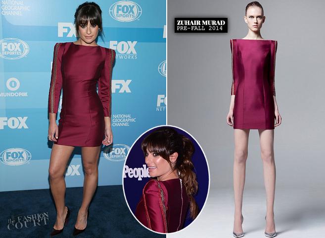 Lea Michele in Zuhair Murad | FOX Upfronts 2015 & NY Upfronts Celebration