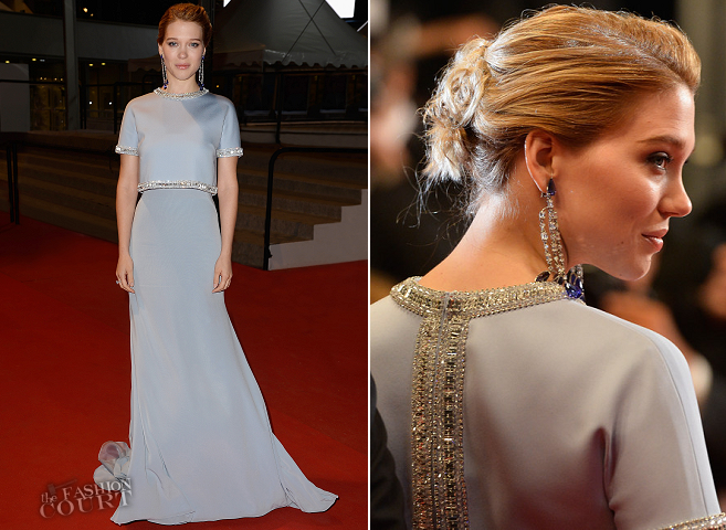 Léa Seydoux in Miu Miu | 'The Lobster' Premiere - 2015 Cannes Film Festival