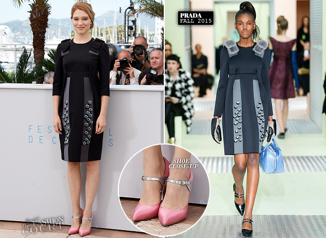 Léa Seydoux in Prada | 'The Lobster' Photocall - 2015 Cannes Film Festival
