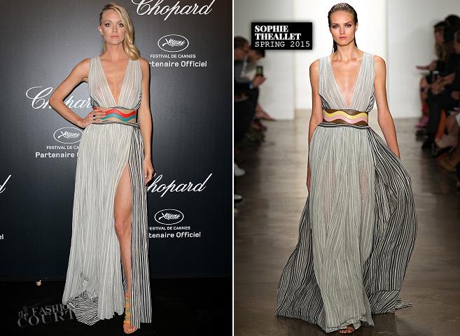 Lindsay Ellingson in Sophie Theallet | Chopard Gold Party - 2015 Cannes Film Festival