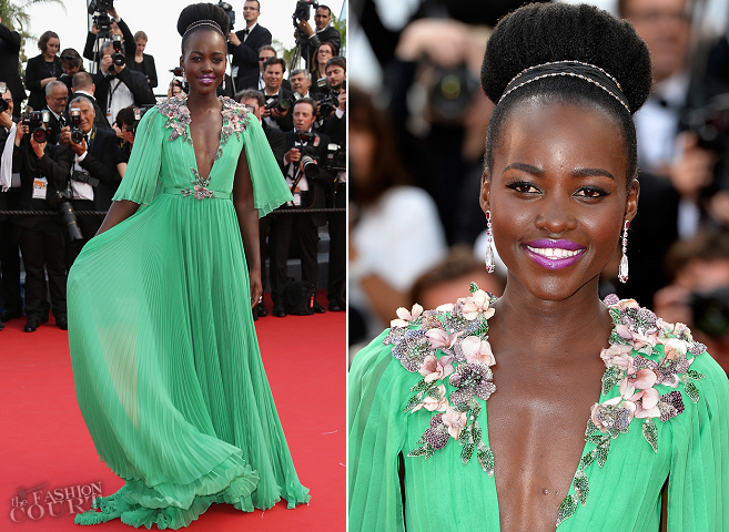 Lupita Nyong'o in Gucci | 'Standing Tall' Premiere - 2015 Cannes Film Festival Opening Ceremony