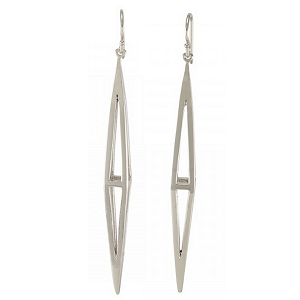 Melinda Maria Pyramid Cage Earrings in Silver