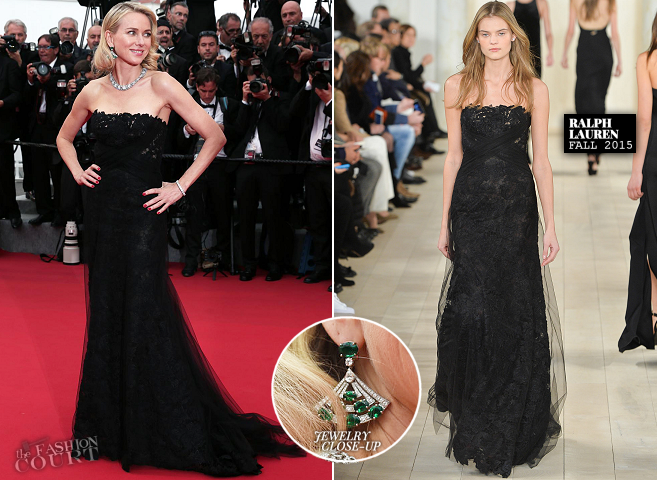 Naomi Watts in Ralph Lauren | 'Mad Max: Fury Road' Premiere - 2015 Cannes Film Festival