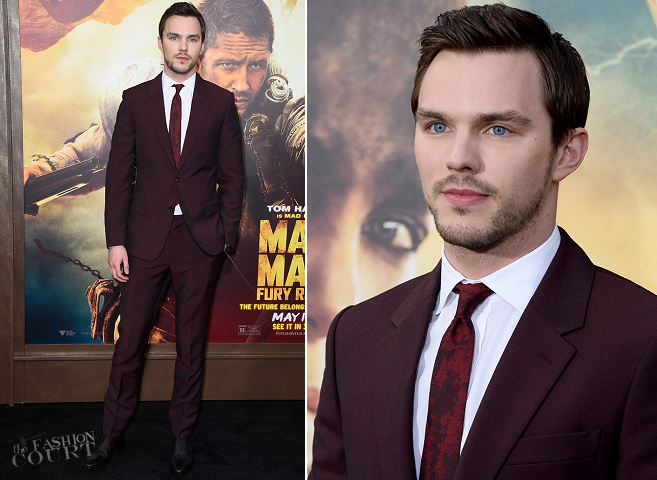 Nicholas Hoult in Alexander McQueen | 'Mad Max: Fury Road' Hollywood Premiere