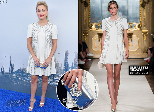 Olivia Holt in Elisabetta Franchi | 'Tomorrowland' World Premiere
