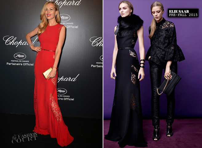 Petra Nemcova in Elie Saab | Chopard Gold Party - 2015 Cannes Film Festival