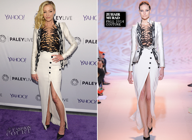 Portia de Rossi in Zuhair Murad Couture | The Paley Center: An Evening with the Cast of 'Scandal'