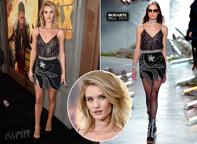 Rosie Huntington-Whiteley in Rodarte | 'Mad Max: Fury Road' Hollywood Premiere
