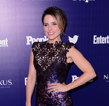 Sophia Bush in Monique Lhuillier | New York Upfronts Party 2015