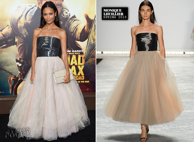Thandie Newton in Monique Lhuillier | 'Mad Max: Fury Road' Hollywood Premiere