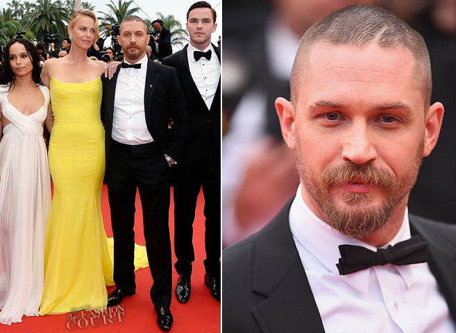 Tom Hardy in Gucci | 'Mad Max: Fury Road' Premiere - 2015 Cannes Film Festival