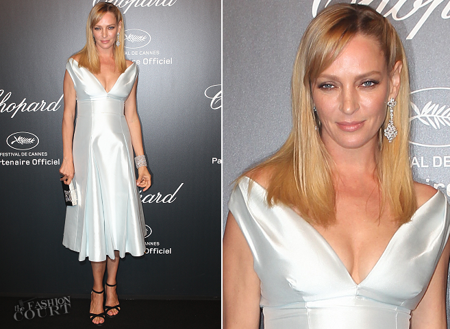 Uma Thurman in Prada | Chopard Gold Party - 2015 Cannes Film Festival