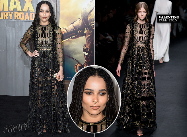 Zoe Kravitz in Valentino | 'Mad Max: Fury Road' Hollywood Premiere