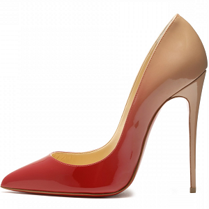 Christian Louboutin 'So Kate' Degrade Pumps in Nude/Red