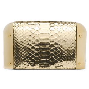 Michael Kors 'Leyla' Python Dome Clutch