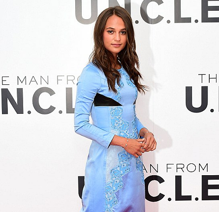 Alicia Vikander in Louis Vuitton | 'The Man from U.N.C.L.E.' London Photocall