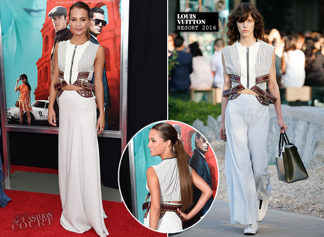 Alicia Vikander in Louis Vuitton | 'The Man from U.N.C.L.E.' NYC Premiere