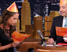 Alicia Vikander in Thakoon | 'The Tonight Show Starring Jimmy Fallon'