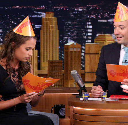 Alicia Vikander in Thakoon | 'The Tonight Show Starring Jimmy Fallon'