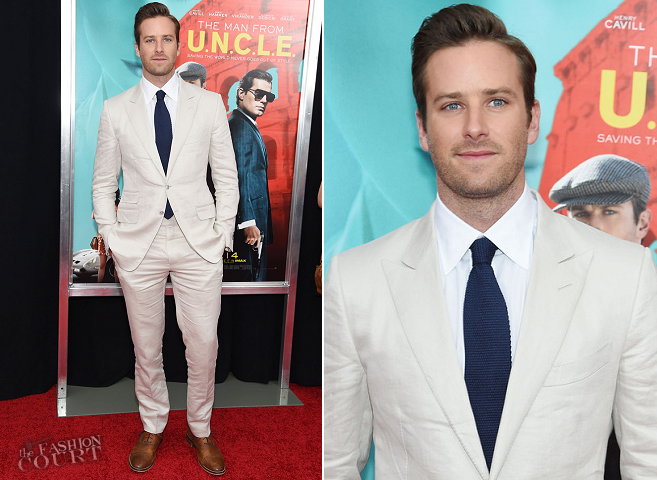 Armie Hammer in Tom Ford | 'The Man from U.N.C.L.E.' NYC Premiere