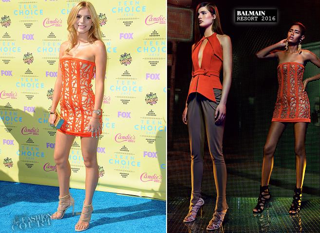 Bella Thorne in BalmBella Thorne in Balmain | Teen Choice Awards 2015ain & Versace | Teen Choice Awards 2015