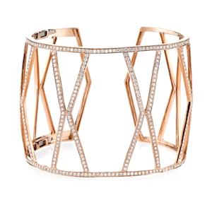 Borgioni Rose Gold and Diamond Cuff Bracelet