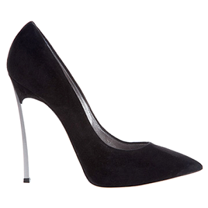 Casadei 'BLADE' Black Suede Pumps