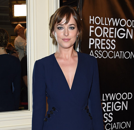 Dakota Johnson in Dior | HFPA Grants Banquet 2015