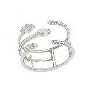Djula Gold and Diamond Spiral Ring