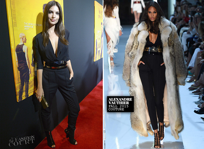 Emily Ratajkowski in Alexandre Vauthier Couture | 'We Are Your Friends' Miami Screening