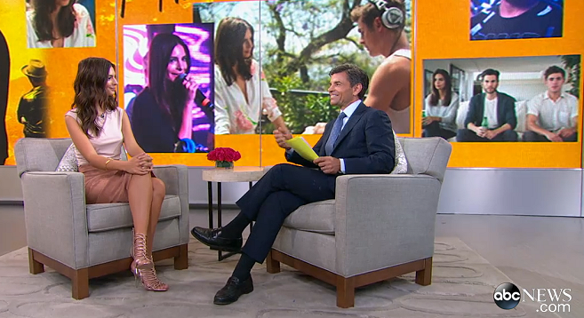 Emily Ratajkowski in Atea Oceanie & Brunello Cucinelli | 'Good Morning America'
