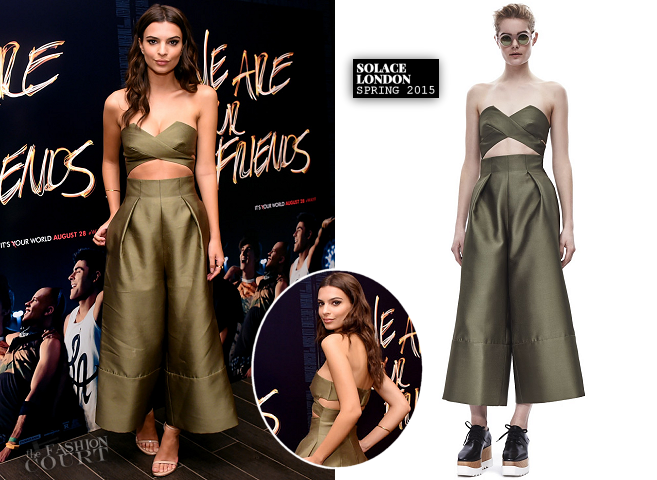 Emily Ratajkowski in Solace London | 'We Are Your Friends' NYC Screening & Party