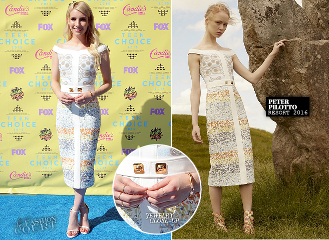 Emma Roberts in Peter Pilotto | Teen Choice Awards 2015