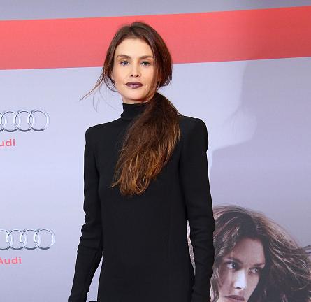 Hannah Ware in J. Mendel   'Hitman: Agent 27' Berlin Premiere