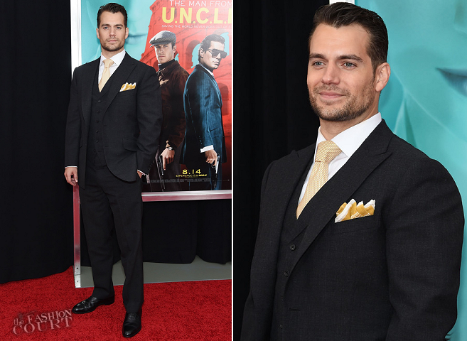 Henry Cavill in Dunhill | 'The Man from U.N.C.L.E.' NYC Premiere