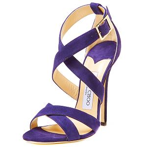 Jimmy Choo 'Xenia' Purple Suede Sandals
