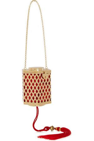 Kotur Lantern Tasseled Goldplated Shoulder Bag
