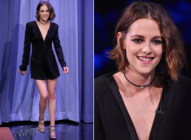 Kristen Stewart in DVF | 'The Tonight Show Starring Jimmy Fallon'