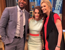 Kristen Stewart in Mugler | 'Live! with Kelly and Michael'
