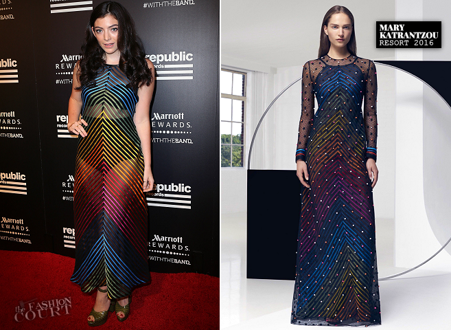 Lorde in Mary Katrantzou | Republic Records Private Post-VMA 2015 Party