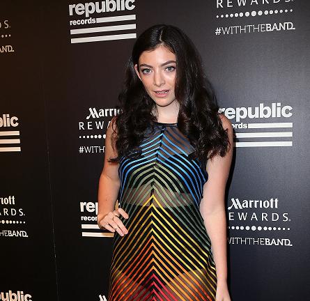 Lorde in Mary Katrantzou   Republic Records Private Post-VMA 2015 Party