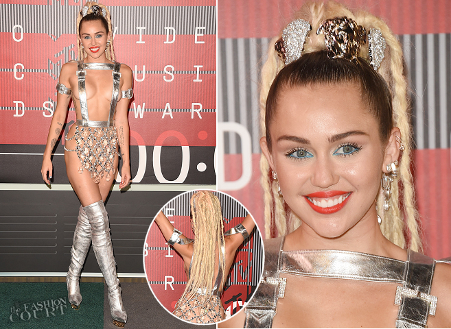 The 11 Outfits MilMiley Cyrus in Versace | 2015 MTV VMAsey Cyrus Wore at the 2015 MTV Video Music Awards!