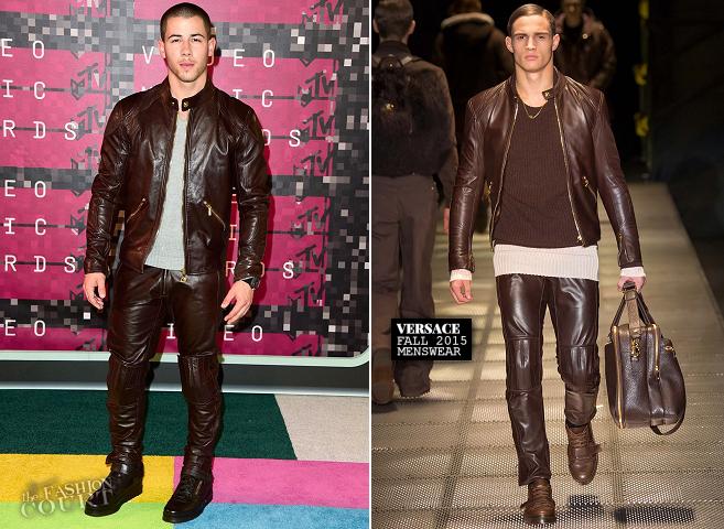 Nick Jonas in Versace | MTV VMAs 2015