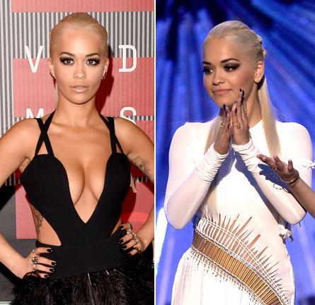 Rita Ora in Vera Wang & Alexandre Vauthier Couture | MTV VMAs 2015