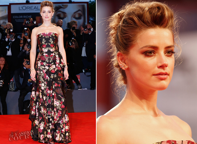 Amber Heard in Alexander McQueen | 'The Danish Girl' Premiere - 2015 Venice Film Festival