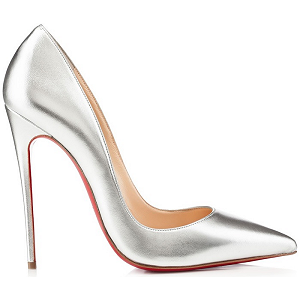 Christian Louboutin 'So Kate' Silver Pumps